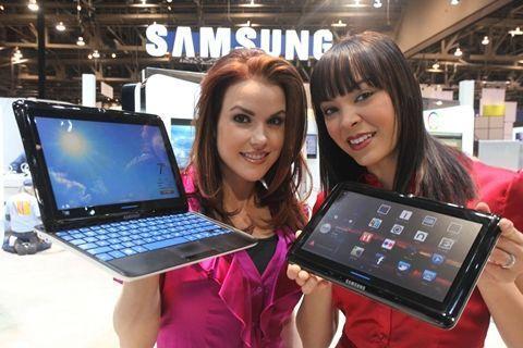 삼성 슬라이딩 PC7 윈도우7 탑재 태블릿