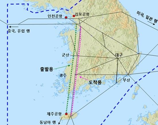 서울 - 제주 복선화 개념도 (국토해양부 제공)