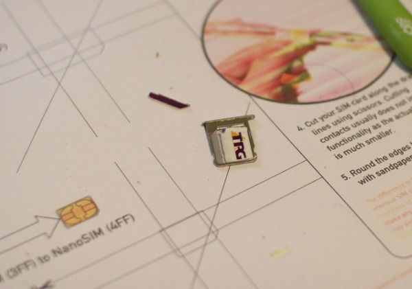 how to cut my micro sim into a nano sim