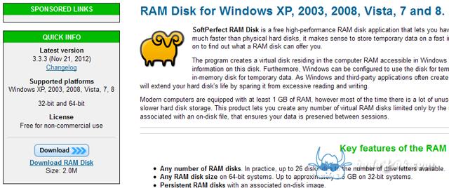 SoftPerfect RamDisk