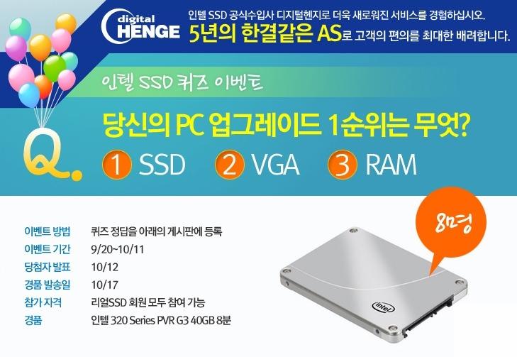 컴퓨터 속도, 인텔 SSD, SSD, 인텔 SSD 320, PVR 80GB