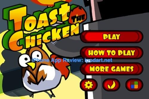 아이폰 게임 두뇌 퍼즐 Toast The Chicken