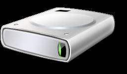 Hard disk icon (c) Microsoft