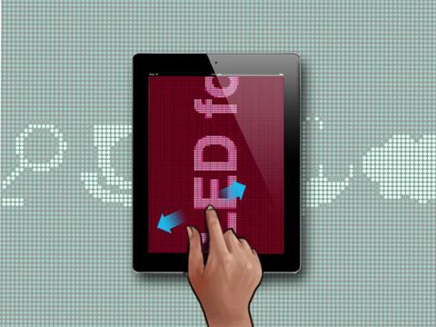 아이폰/아이패드 전광판 앱(iLed for iPad)