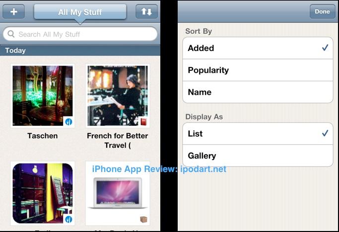 아이폰 아이팟터치 아이패드 SNS와 통합 노트 Springpad