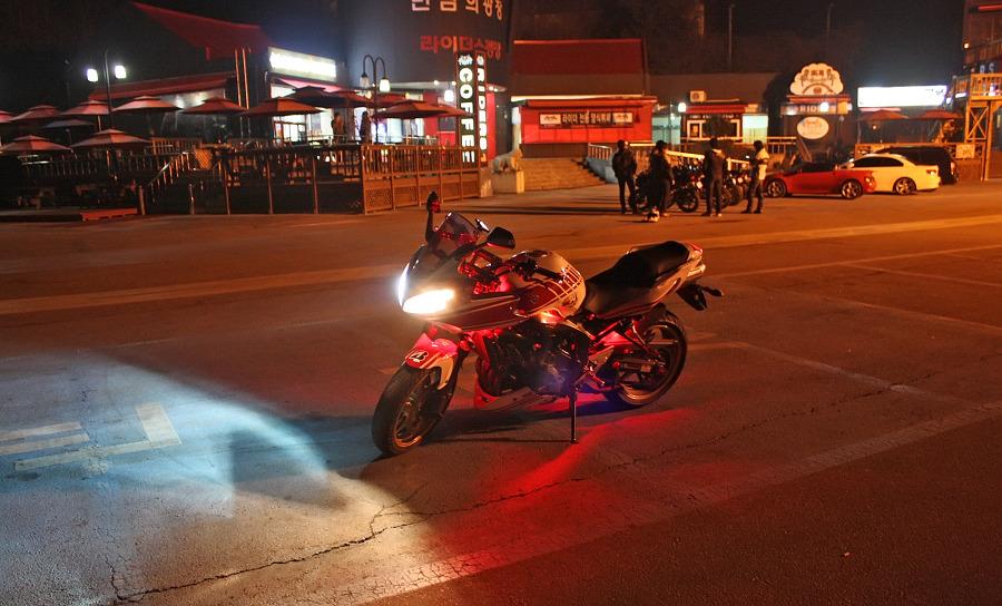 바이크로 달리자 - 야간 유명산 투어 : 170F6D3D4F6690A02EDC98