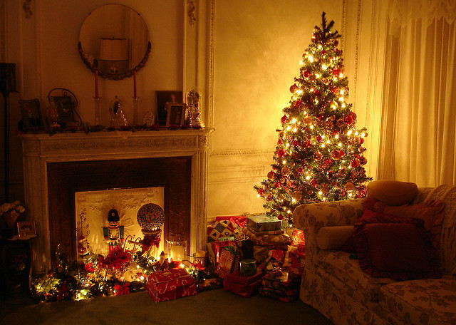Beautiful Christmas Trees In Living Room