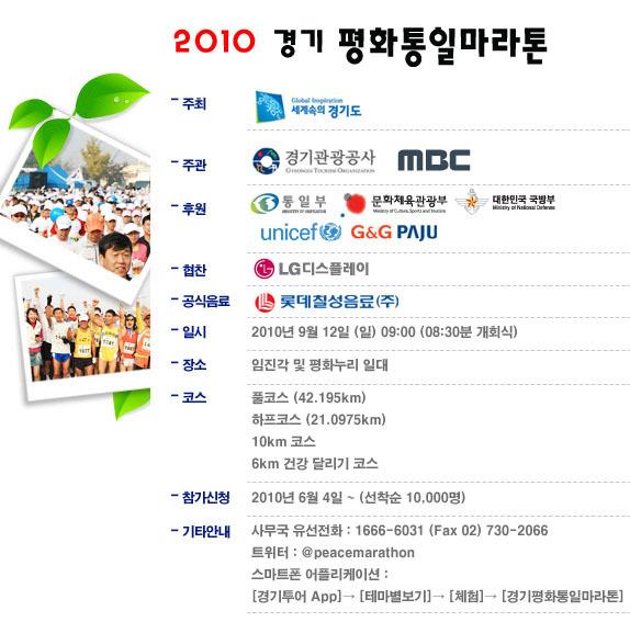 2010 경기 평화통일마라톤 포스터