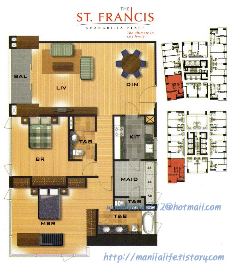 Shangri la st francis tower floor plan and unit layout Apartment floor plan philippines