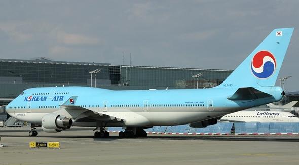 대통령 전용기로 임대될 대한항공 B747-400(HL7465) 항공기