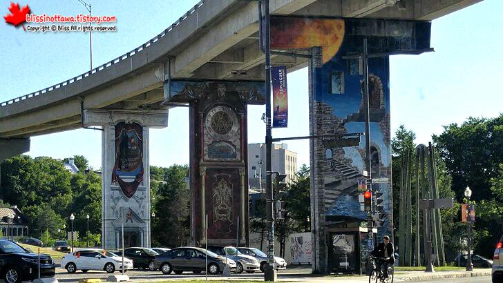 퀘벡시티 도시 예술 그라피티