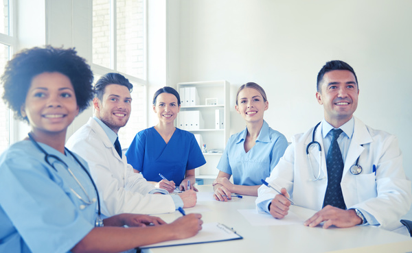 Free Stock Photo JPG file Group of happy doctors at hospital Stock Photo 10
