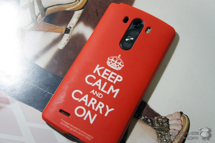 LG, G3 cat6, 케이스, KEEP CALM AND CARRY ON, 착용