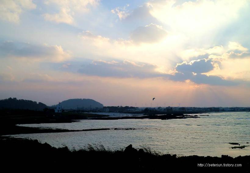 김녕성세기해변 해질녘
