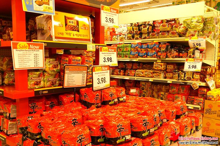 캐나다 토론토 한국 식품 마트 라면