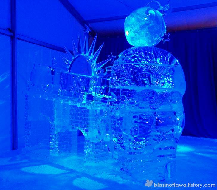 오타와 국제 얼음조각 대회입니다