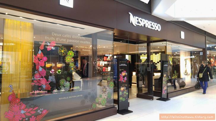 캐나다 네스프레소 Nespresso 커피 전문 매장