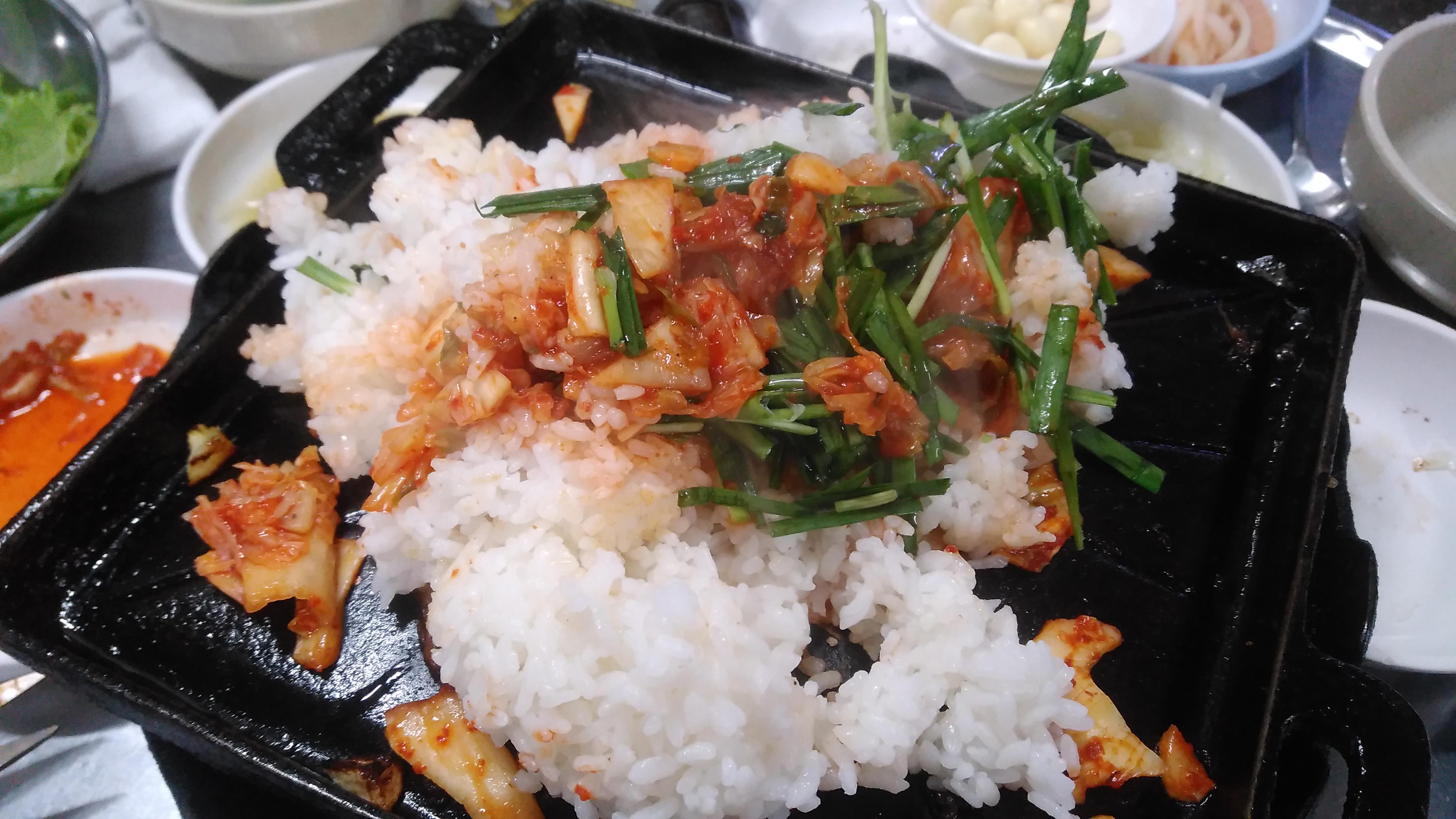 밥과 채소