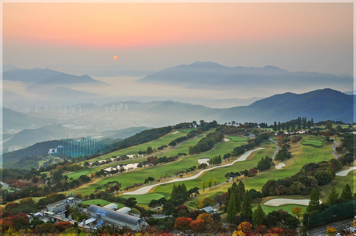 골프장의 가을 아침(15.10.18)