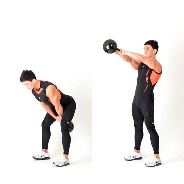 케틀벨 운동, 강한 코어 근육을 위한 4분 타바타 운동법(케틀벨 스윙, 플랭크)