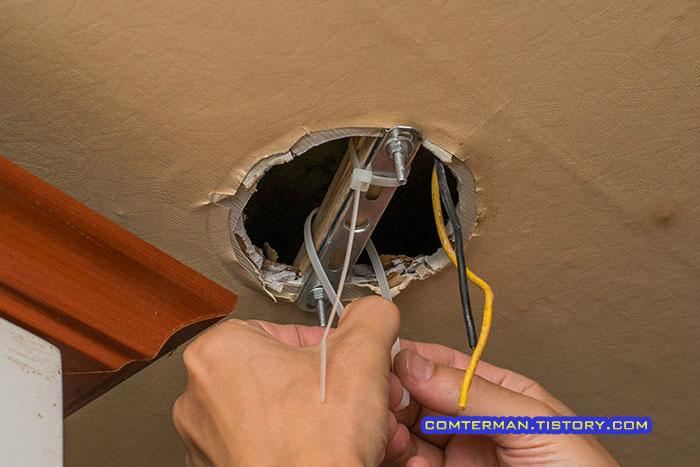 천장 등기구 설치