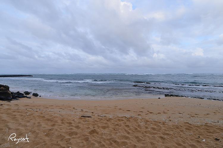 숙소앞 해변에서