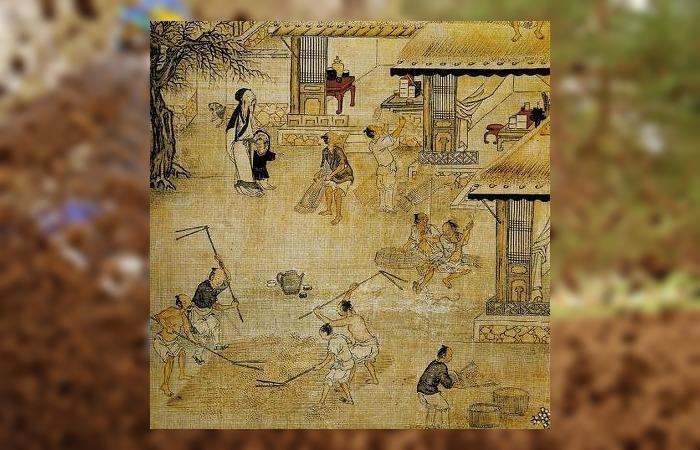 사진: 노비의 생활을 다룬 그림 경직도. 이 그림은 고려시대를 묘사한 것은 아니지만 노비들이 하는 일들을 알 수 있다. [소금장수 이의민, 장군이 되다]