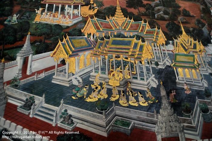 태국 여행 / 방콕 여행 / 에메랄드 사원 '왓 프라깨오' 돌아보기1 - 회랑 벽화