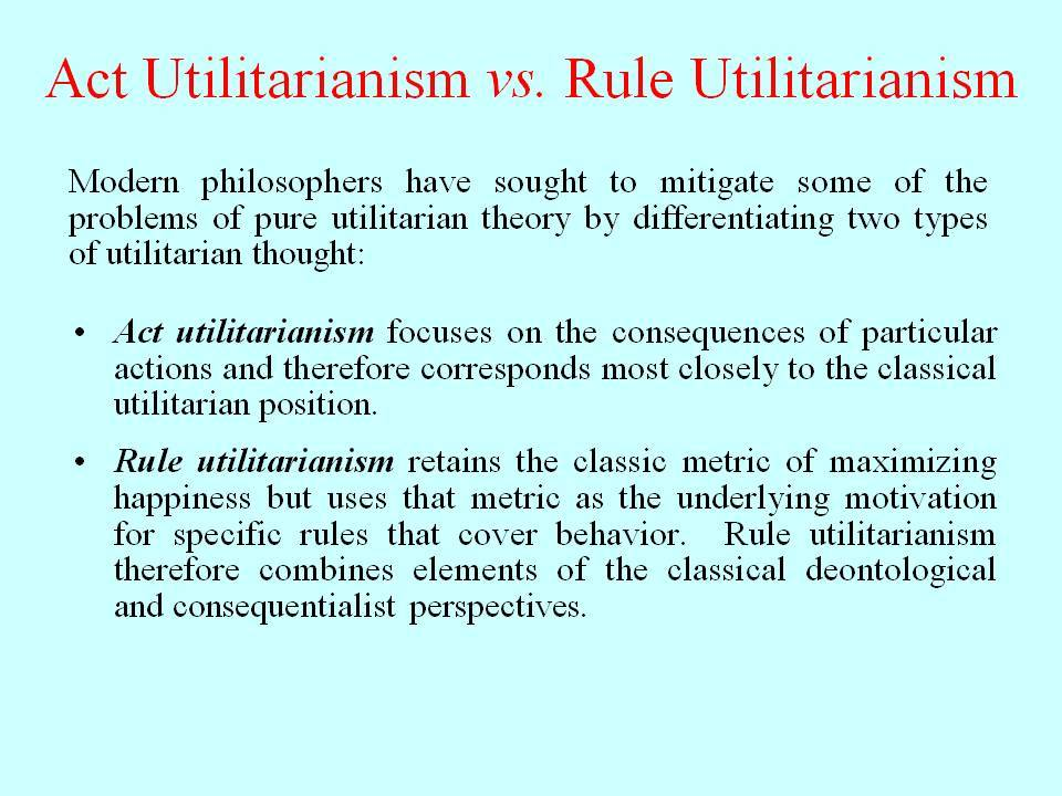 utilitarianism and deontology essays