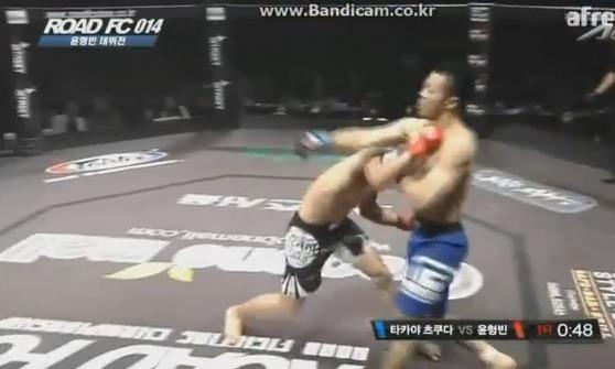 윤형빈 로드FC 데뷔전 - 1회 TKO 승리 대박!!
