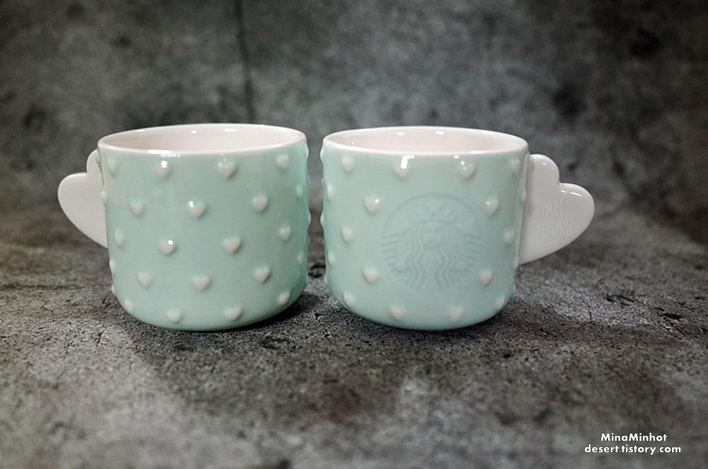 민트색 하트 스타벅스 에스프레소잔, 스타벅스 커피잔 (I am yours Starbucks cup,  Espresso cup, 星巴克  浓缩咖啡杯)