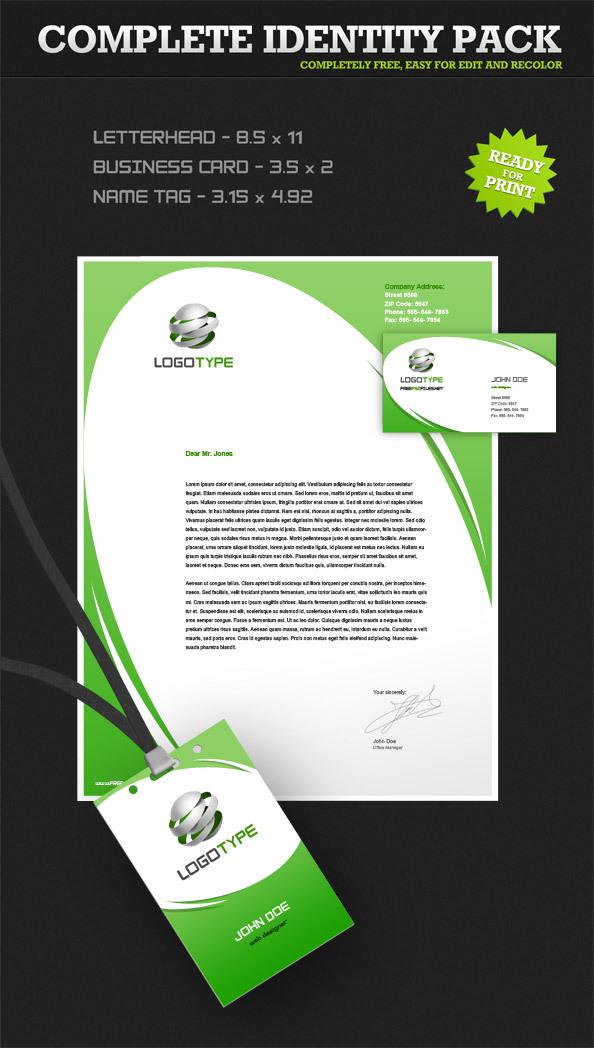 기업의 이미지을 높여주는 회사 아이덴티티팩 명함, 편지지, 사원증 포토샵 원본소스