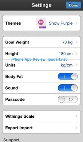 PopWeight - Track Your Weight 아이폰 몸무게 관리 다이어트 비만도