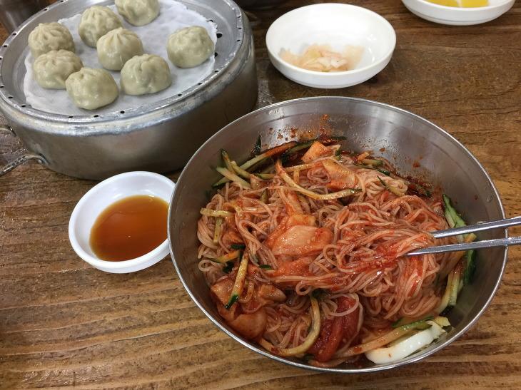 김해 다랑 부산면옥 밀면 비빔밀면 만두 후기 김해 연지공원 맛집