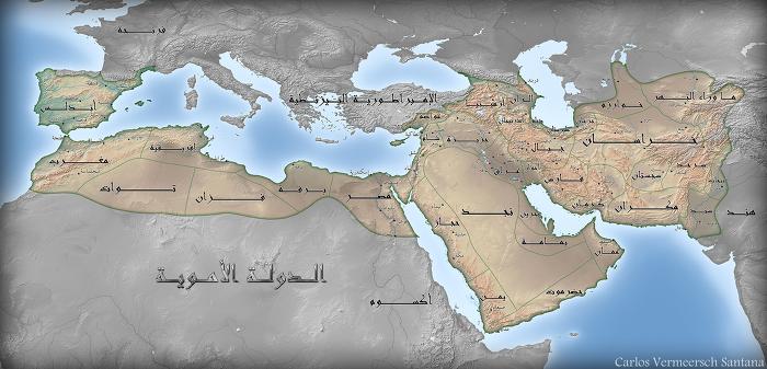 알-왈리드 1세 영토 Al-Walid I Umayyad Caliph territory