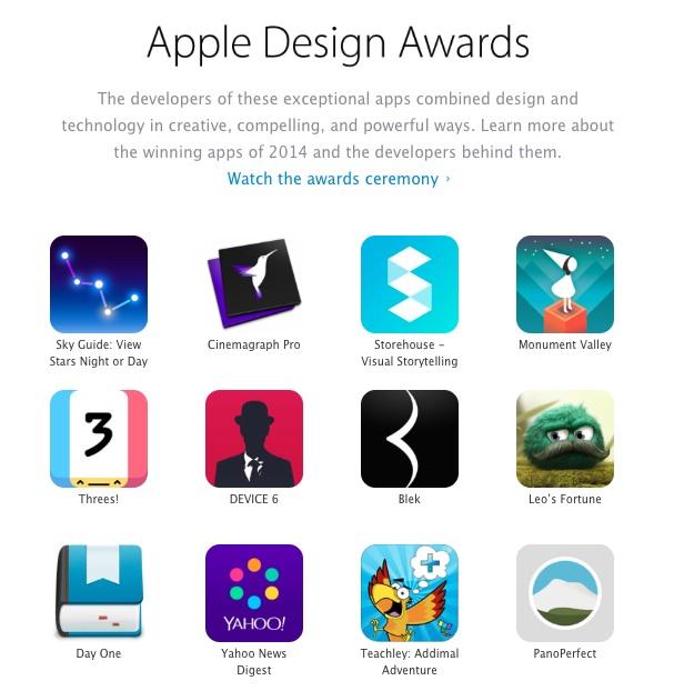 2014 애플 디자인 어워드