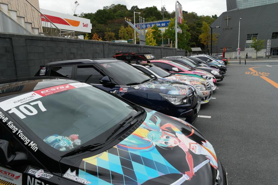 대전 사이언스 페스티벌에 전시된 이타샤 차량들