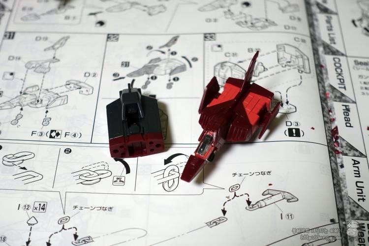 3배, 퍼스트건담, MG, RX-78/CA, rx-78, ca, 캐스발전용기, 조립, 코어파이터
