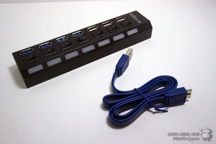 노벨뷰, 7포트, USB 허브, 후기, 구성