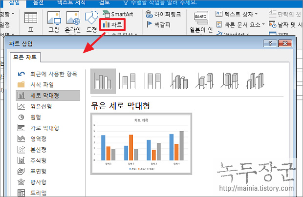 아웃룩 Outlook 메일 본문에 차트 삽입과 데이터 다루기
