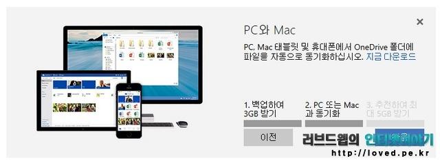 원드라이브 PC와 Mac 동기화