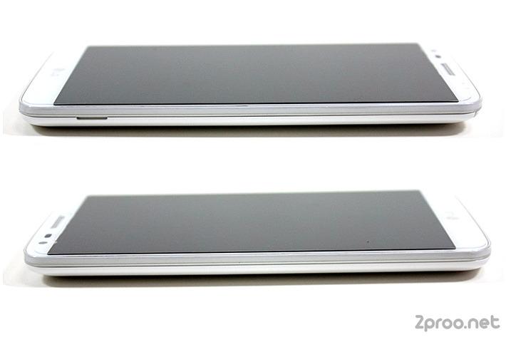 LG G2 스마트폰 좌측 우측 측면 사진
