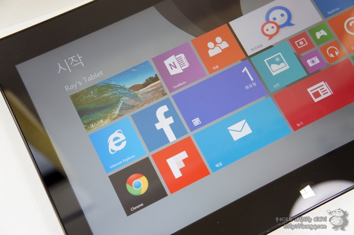 LG 탭북2(11T540-G330K), 모던 UI, 타일UI