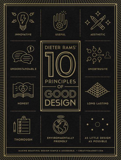 디터 람스 '좋은 디자인의 10 대 원칙'