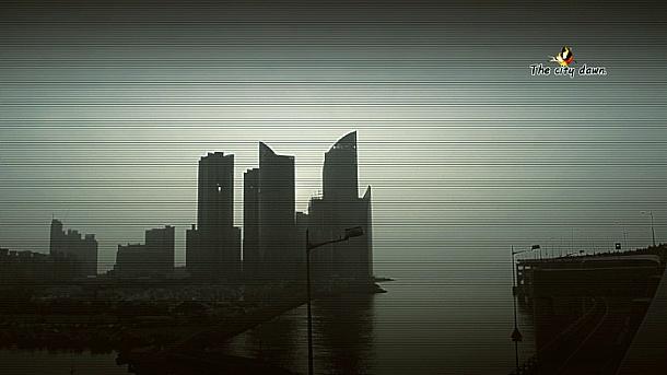 도시의 여명(새벽)-City dawn.