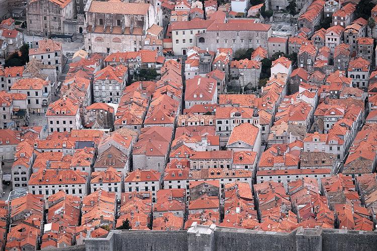 성벽투어중 바라본 지붕들의 모습