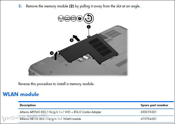 메모리 교체를 위한 커버 분리