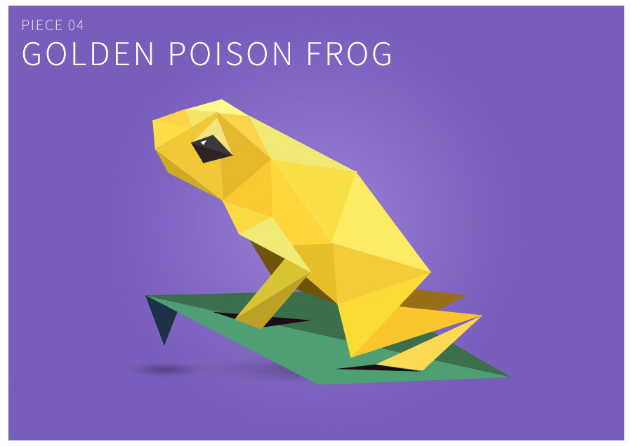Piece 04 Golden poison frog