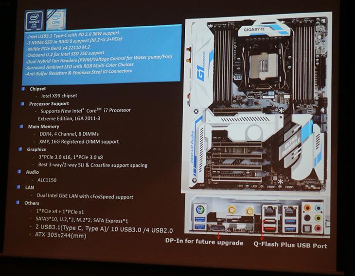 기가바이트 ,브로드웰E ,X99 ,신형, 메인보드 ,새로운, 라인업,IT,IT 제품리뷰,신형 인텔 프로세서에 맞춰서 Gigabyte에서도 새로운 제품을 내어놓았는데요. 전문가용 메인보드를 소개해 봅니다. 기가바이트 브로드웰e X99 신형 메인보드를 직접 볼 수 있었는데요. 그 외에 새로운 라인업의 메인보드 제품들도 볼 수 있었습니다. 신형 메인보드에서 몇가지 달라진 점이 있었는데요. 화려한 LED 조명과 더 강해진 프레임등도 있지만 또 달라진 부분도 있습니다. 기가바이트 브로드웰e X99 신형 메인보드에는 VR과 대응하는 부분 그리고 U.2 인터페이스를 통해서 더 빠른 대여폭을 제공하는 부분 썬더볼트3로 모든것이 연결되는 등 새로운 부분들이 추가 됩니다.