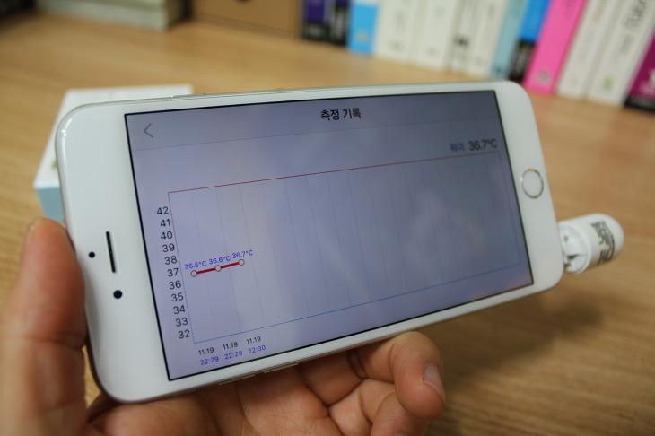 Croise.a Thermo Capsule 스마트 온도계 사용후기 리뷰 비접촉식 피부 적외선 체온계 파트론 크로이스